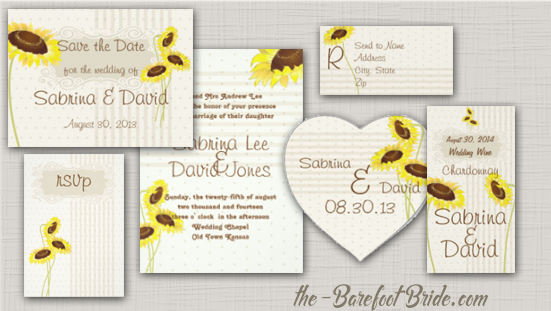 Sunflowers And Stripes Wedding Suite