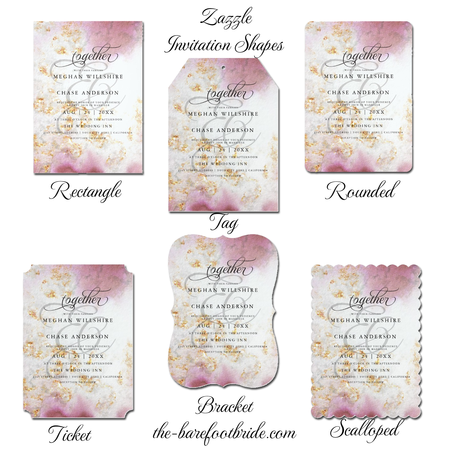 Wedding Invitation Shapes BarefootBride™